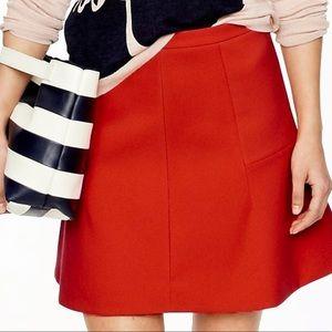 J Crew A Line Straight Stitch Skirt